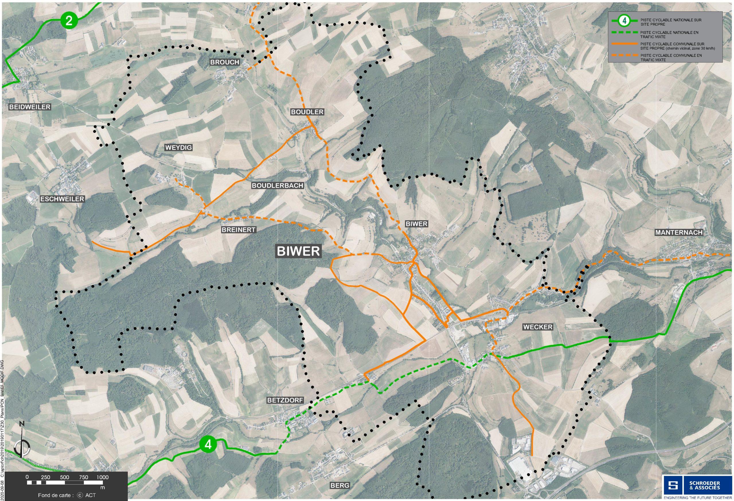 Karte Fahrradwege